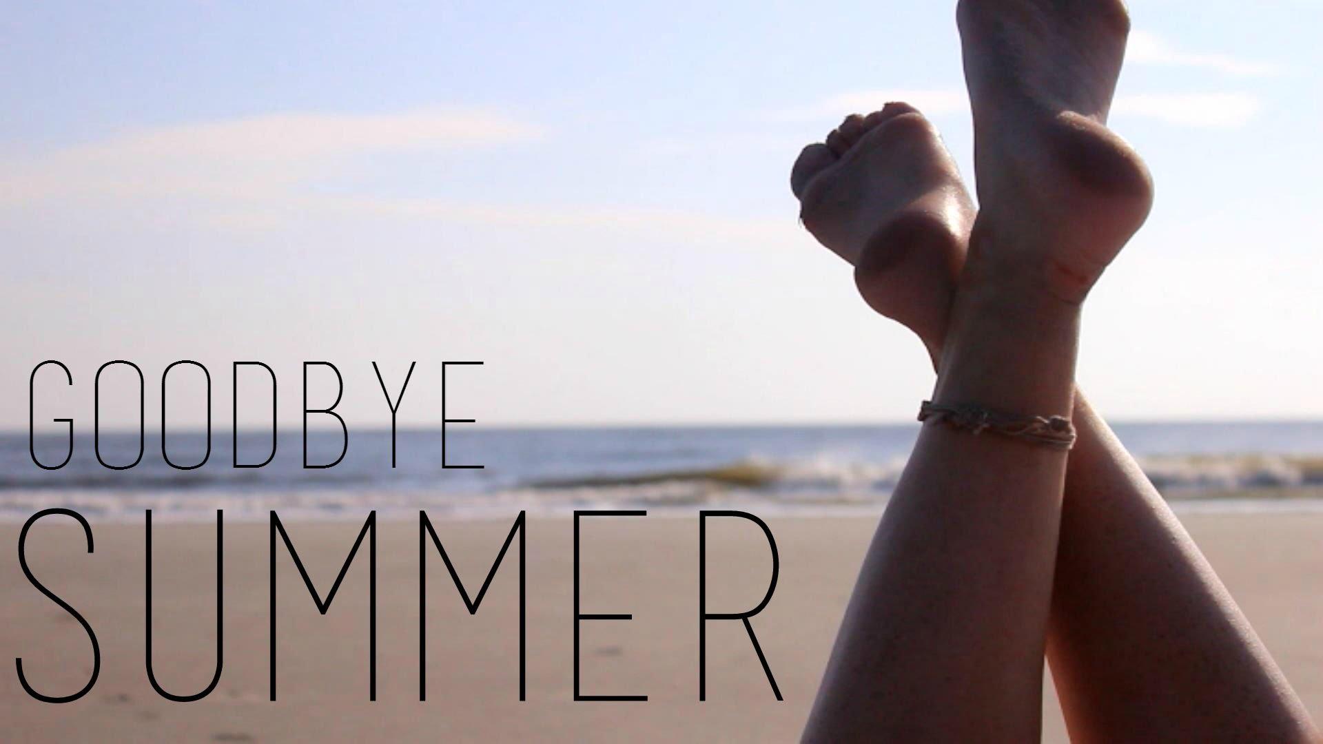 Goodbye Summer · Richard Verry, writer , Saying adieu to a good friend.